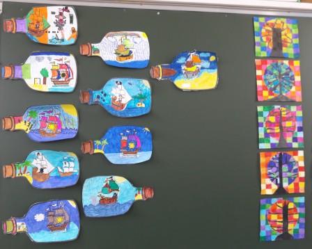 L Art Visuel Chez Les Ce1 Ce2 Ecole De Teurthéville Bocage